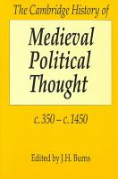 The Cambridge History of Medieval Political Thought C 350 c 1450 PDF