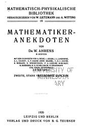 Mathematisch-physikalische Bibliothek: Band 18