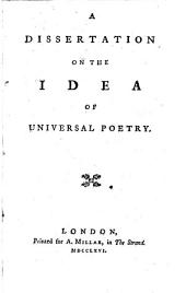 A dissertation on the ideas of Universal poetry