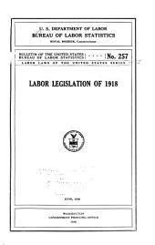 Labor laws of the United States series: Issues 15-18