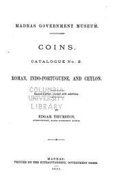Coins: Catalogue No. 2. Roman, Indo-Portuguese, and Ceylon, Issue 2