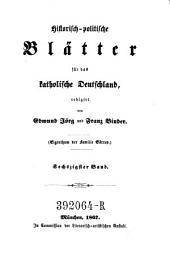 Historisch-politische Blätter für das katholische Deutschland ; herausgegeben von G. Phillips und G. Görres: Band 60
