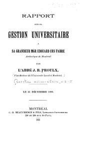 Question universitaire: Volumes3à5
