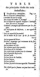 La relation de trois ambassades de Monseigneur le comte de Carlisle, de la part du... prince Charles II, roi de la Grande Bretagne, vers... Alexey Michailovitz, czar et grand duc de Moscovie, Charles, roy de Suède, et Frédéric III, roy de Dannemarc et de Norvège, commencées en l'an 1663, et finies sur la fin de l'an 1664 [Guy Miège]