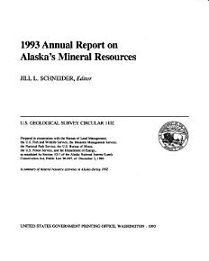 1993 Annual Report on Alaska s Mineral Resources PDF