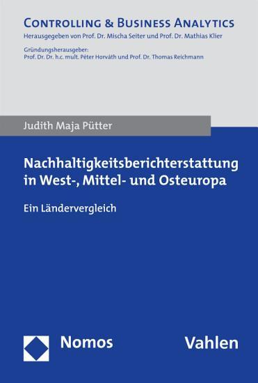 Nachhaltigkeitsberichterstattung in West   Mittel  und Osteuropa PDF
