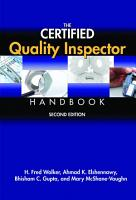 The Certified Quality Inspector Handbook PDF