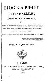 Biographie universelle, ancienne et moderne, etc: Volume50