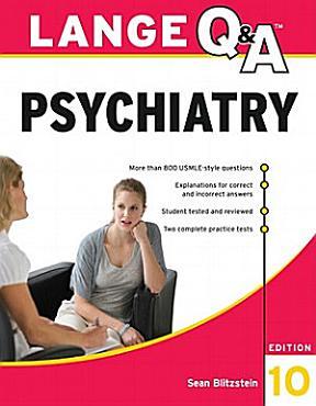 Lange Q A Psychiatry  10th Edition PDF