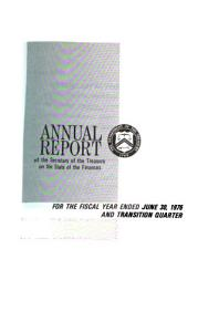 Annual Report of the Secretary of the Treasury on the State of the Finances PDF