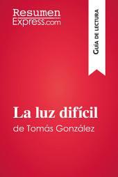 La luz difícil de Tomás González (Guía de lectura): Resumen y análisis completo