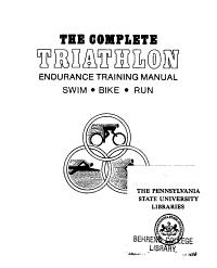 The Complete Triathlon Endurance Training Manual PDF
