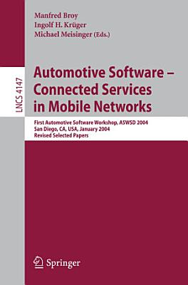Automotive Software Connected Services in Mobile Networks PDF