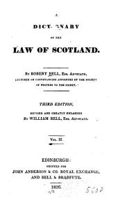 Dictionary of the Law of Scotland: Volume 2