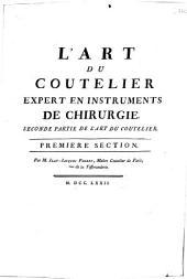 L'art du coutelier en ouvrages communs, par M. Fougeroux de Bondaroy