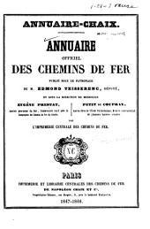 Annuaire officiel des chemins de fer
