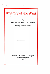 Mystery of the West