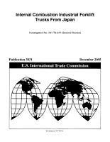 Internal Combustion Industrial Forklift Trucks from Japan PDF