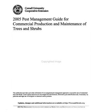 Pest Management Guide for Commercial Production and Maintenance of Trees and Shrubs PDF