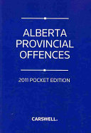 Alberta Provincial Offences 2011