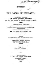 A Digest of the Laws of England: Volume 4