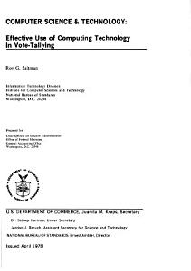 Effective Use of Computing Technology in Vote tallying PDF