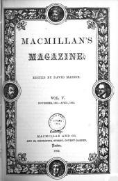 Macmillan's Magazine; Vol V