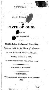 Journal of the Senate of the State of Ohio: Volume 27, Issue 1