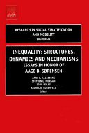 Inequality  Structures  Dynamics and Mechanisms PDF