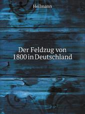 Der Feldzug von 1800 in Deutschland