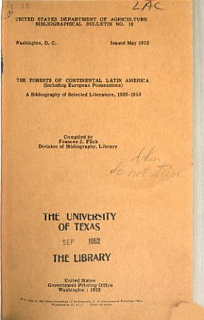 The Forests of Continental Latin America PDF