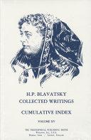 H. P. Blavatsky ,Collected Writings