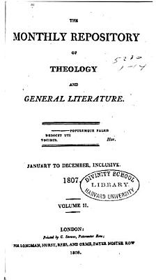 The Monthly Repository of Theology and General Literature PDF