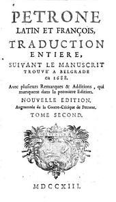 Pétrone latin et françois: Volume2