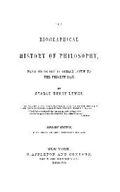 Biographical History of Philosophy