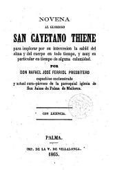 Novena al Glor. San Cayerano Thiene ...