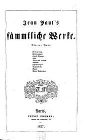 Sämmtliche Werke /Richter, Jean Paul Friedrich: Volume4