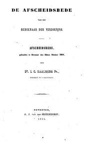 De afscheidsbede van den bedienaar der verzoening: afscheidsrede, gehouden te Deventer den 22sten October 1854