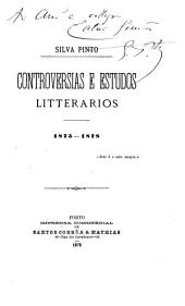 Controversias e estudios litterarios, 1875-1878