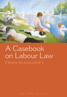 A Casebook on Labour Law PDF