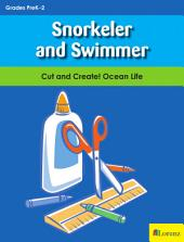 Snorkeler and Swimmer: Cut and Create! Ocean Life
