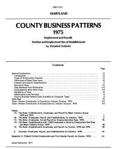 County Business Patterns: Volume 75, Issue 22