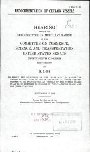 Redocumentation of Certain Vessels PDF