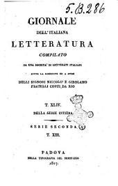 Giornale dell'italiana letteratura
