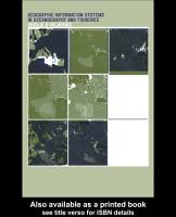 Geographic Information Systems in Oceanography and Fisheries PDF