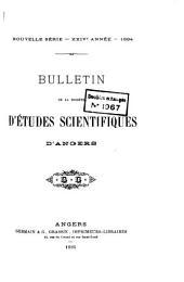 Bulletin de la Societe d'etudes scientifiques d'Angers: Volumes24à25
