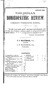 The Indian Homoeopathic Review: Volume 10