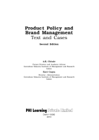 PRODUCT POLICY AND BRAND MANAGEMENT PDF