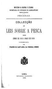 Collecção de leis sobre a pesca desde junho de 1860 a maio de 1894
