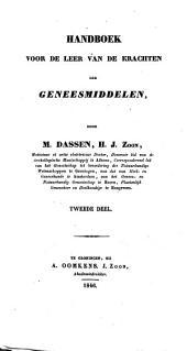 Handboek voor de leer van de krachten der geneesmiddelen: Volume 2